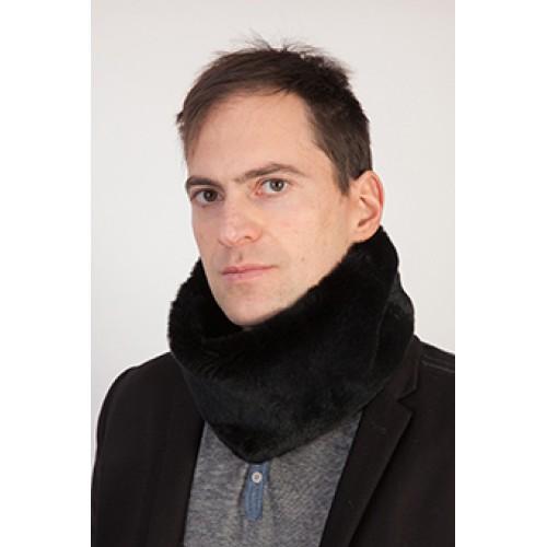 più alla moda così economico nuovo economico Scaldacollo pelliccia rex nero uomo
